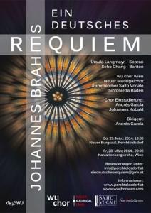 Brahmsrequiem Plakat